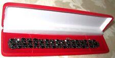 Sherman Jewels of Elegance- A Signed Sherman Japaned Black Navette Bracelet