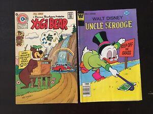 Yogi Bear #24 (Hanna-Barbera) Walt Disney Uncle Scrooge #143 (2)Comics