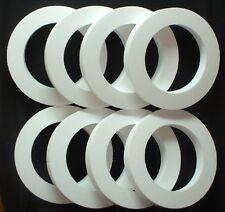 "8 pc Styrofoam EPS Polystyrene WREATHS 16"" X 2"" White Craft Wedding Floral Ring"