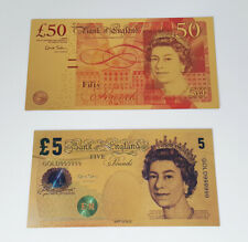 More details for gold banknotes set of 4 - bank of england - 24k gold coa - great collection!