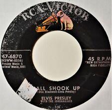 """Elvis Presley All Shook Up That's When Your Heartache Begins Teen 45 7"""" Vinyl"""