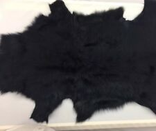 Blue Real Lamb Fur Leather With Back Swede Genuine Real Fur Craft Material Dress