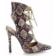 Women's Animal Print Stiletto Heel Sandals & Beach Shoes