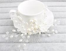 perles Nuptial accessoires strass Peigne à cheveux Noces de cristal coiffe