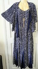 ANN HARVEY BLUE & WHITE MAXI DRESS WITH MATCHING SHRUG OCCASIONS PLUS SIZE 24