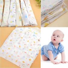 Ac43 1pcs Baby Gauze Muslin Square Cotton Feeding Wash Cloths Bibs Towel 31*31