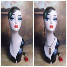 High Quality Fiberglass Female Mannequin Dummy Head Vintage Display Desktop