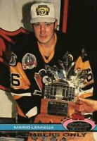 1991 Stadium Club Members Only #NNO Mario Lemieux Repeats as MVP Penguins
