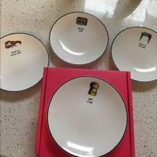 Lenox Kate Spade Concord Square Cause a Stir Tidbit Plates Set 4pc New In Box