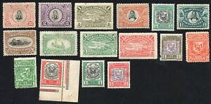 Dominican Republic 1900-11 group of 16 stamps GS#  MNG/MH/MNH/used