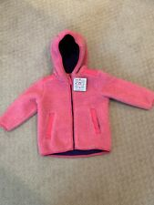 NWT Hanna Andersson fully zipped hooded lined fleece 90 cm 2-3t Girl Coat Jacket