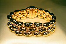 18 K Yellow Italian Gold Reversible Panther Bracelet
