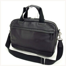 Coach Business bag Black Mens Authentic Used Y624