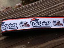 Key Fob, Key Chain, Wrist key holder Patriots Football with Black webbing USA