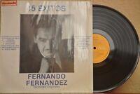 FERNANDO FERNANDEZ -15 EXITOS DE- 1986 MEXICAN LP BOLERO