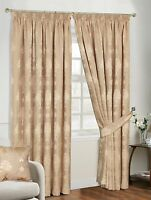 Virginia Fully Lined Pencil Pleat Luxury Jacquard Ready Made Heavy Curtains