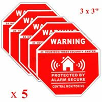 5Pcs Home House Alarm Security Stickers / Decals Signs for Windows & Doors
