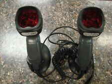 Lot of (2) Fusion Honeywell Ms3780 Omni/Single Line Barcode Scanners w/ stands