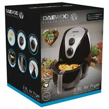 Daewoo SDA1241 1350W 2.6L Low Fat Oil Free Healthy Rapid Air Fryer with Timer