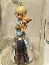 New Precious Moments Baby'S First Christmas Bell Boy Ornament #893374 Free Ship