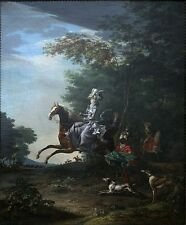 """stunning famous oil painting handpainted on canvas""""hunting""""@NO3431"""