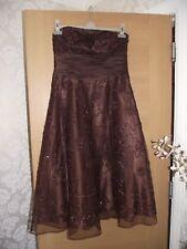 MONSOON Bustier Midi Dentelle Robe de soirée robe de taille 12 & BOLERO TAILLE 14