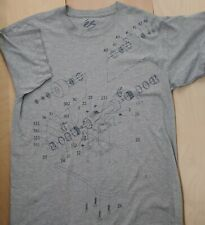 RARE   ES  EXPLODED  VIEW SKATEBOARD T SHIRT    GRAY...L.LARGE..ONLY ONE ON EBAY