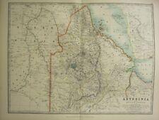 1896 LARGE VICTORIAN MAP ~ ABYSSINIA UPPER NUBIA SOMALI AMHARA SHOA
