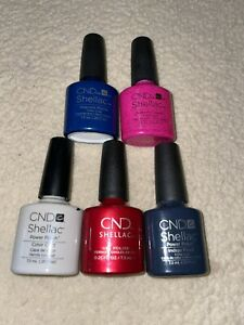 cnd shellac nail polish bundle