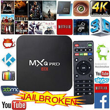 2017 NEW 4K Pro Quad Core Smart Android TV Box Fully Loaded 16.1 Media Player UK