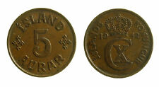 pcc1953_9) Iceland 5 Aurar 1942  KM# 7.2