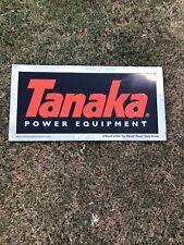 Tanaka Outdoor Power Equipment Embossed Dealer Sign tin metal