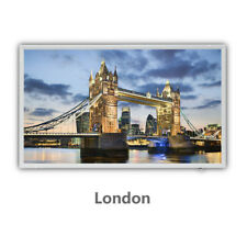 Protron 600Watt Motiv Infrarotheizung Bild Panel Heizkörper 100x60cm - London