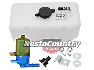 """Holden Washer Bottle + Pump + Fitting Kit """"HOLDEN"""" Torana LC LJ HK HT HG HQ"""