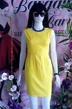 Yellow fashion sleeveless pencil cut dress (pre-loved)