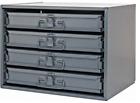Durham Mfg 307-95 Four Sliding Drawer Parts Cabinet (Choose Rack Options)
