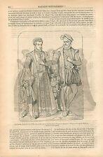 Vitrail Église Saint-Étienne de Beauvais Costumes Charles IX GRAVURE PRINT 1854