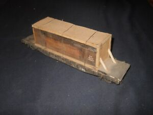 Early O Scale New Haven 46' Flat Car & a General Electric AEC Load
