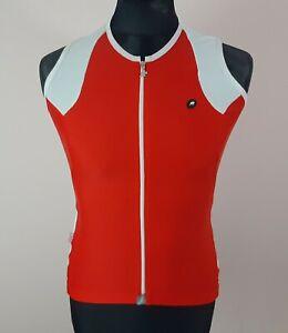 Assos SS.13 Sleeveless Cycling Jersey Women's Size XL Red Full-Zip Lady Vest