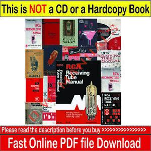 RCA Receiving / Transmitting Tubes over 400 Vintage Vacuum Tube Manual s