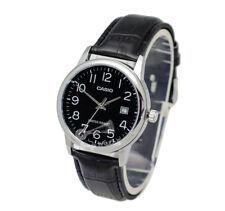 -Casio MTPV002L-1B Men's Strap Fashion Watch Brand New & 100% Authentic