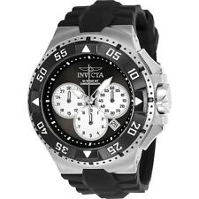 INVICTA MEN'S EXCURSION BLACK SILICONE BAND STEEL CASE QUARTZ WATCH 23045