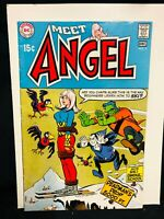 MEET ANGEL #7 VF/VF+ SCARCE DC WALLY WOOD ART ONLY ISSUE AFTER ANGEL & APE WOW!!