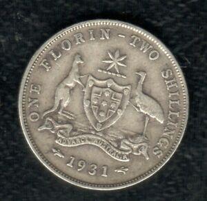 AUSTRALIA 2 SHILLING 1931  SILVER