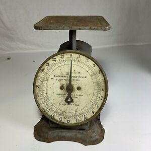 Vintage Columbia Family Scale Landers Frary Clark Kitchen Country New Britain CT