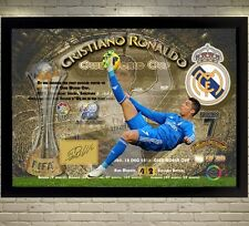 New Cristiano Ronaldo Real Madrid signed autograph Memorabilia With Frame