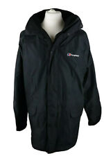 Mens BERGHAUS Windbreaker Jacket Gore-Tex, Lined, Hooded, Black, Size XL