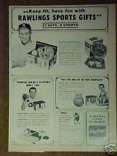1964 Mantle Baseball~Havlicek Basketball Randle Football Rawlings Sports Ad