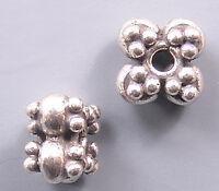 Bali Sterling Silver Flower Beads B1004 (4)