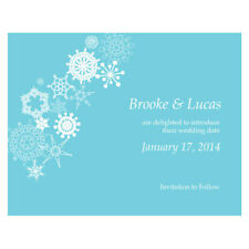 48 Winter Finery Printed Wedding Save Date Cards